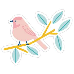 illustrated spring bird