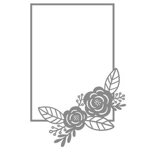 rectangle flower frame