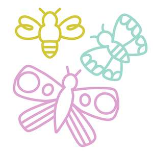 butterflies & bee set