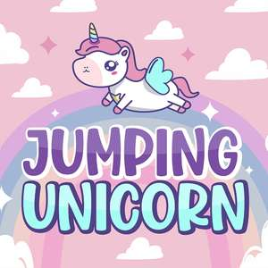 jumping unicorn
