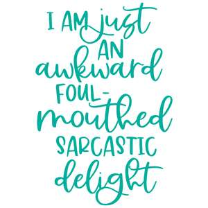 awkward sarcastic delight