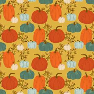 autumn pumpkins pattern