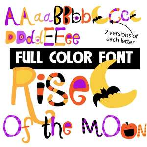 rise of the moon color font