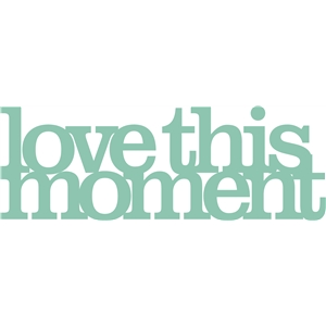 'love this moment' phrase