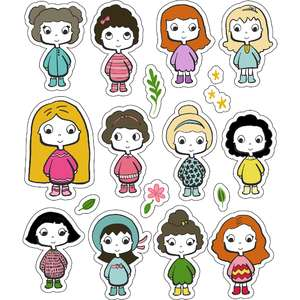 ml girls hanging out stickers