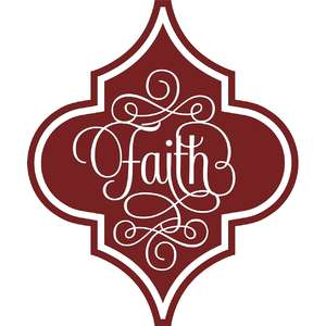 faith arabesque christmas ornament