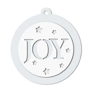 joy word gift tag