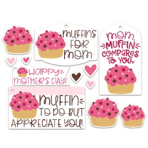 muffins for mom tags/sticker set