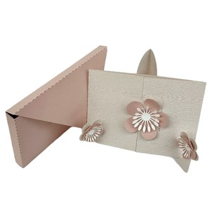 envelope with 3d floral easel