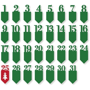 christmas number tabs