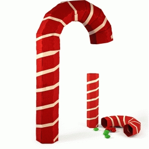 3d candy cane box
