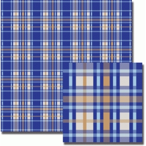 blue dashed plaid pattern