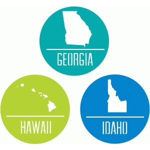 state badges - ga hi id