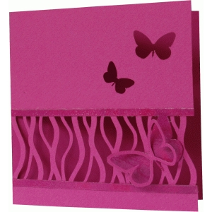 daniela angelova geometric card with butterflies