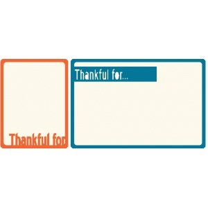 set of 2 thankful journaling cards