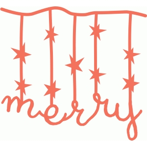 merry with stars