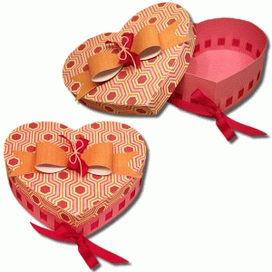3d ribbon heart box