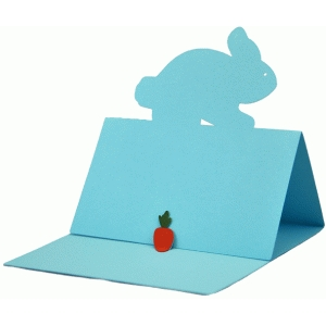bunny easel card with carrot