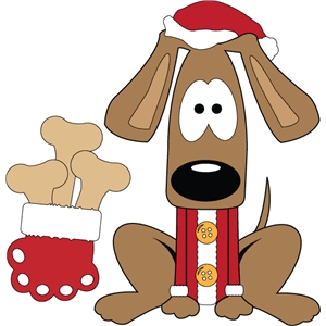 toon dog for christmas