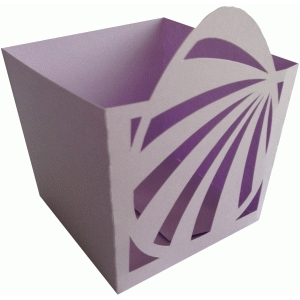 easter egg stripes candy box