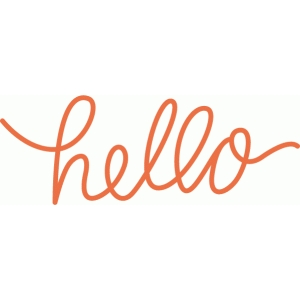 hand lettered hello word