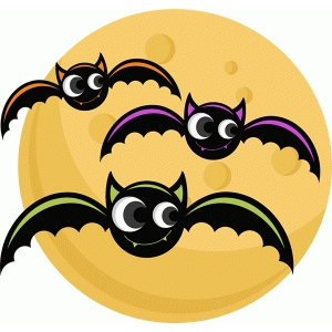 bats with moon