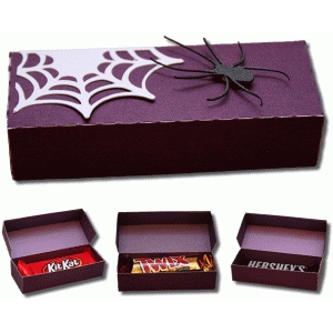 3d spider snack size candy bar box