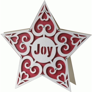 christmas star shape card