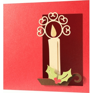 a2 and 5x5 christmas candle card