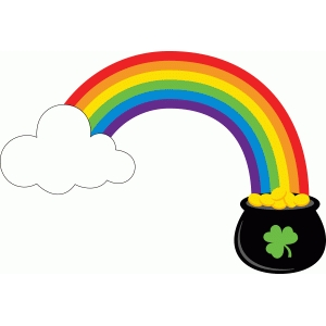 rainbow with pot of gold