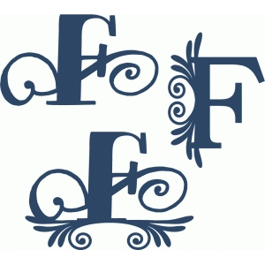 flourish monogram set - f