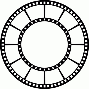 film circle frame (12 photos)
