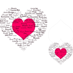 print and cut heart with words card