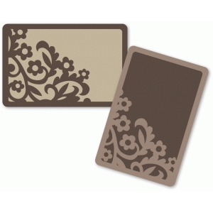 ornate garden floral journaling cards