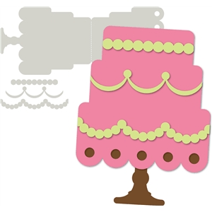 'wedding cake' card base