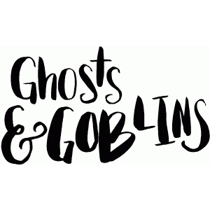 ghosts & goblins lettering