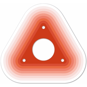 nested rounded triangle