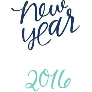 new year 2016 handlettered
