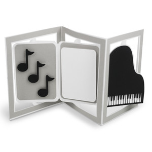 accordion card piano music