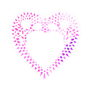 watercolor doily heart