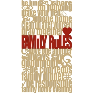 family rules subway art lds