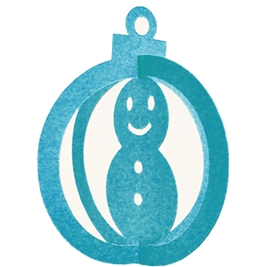 3d christmas ornament-snowman