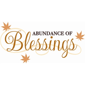 abundance of blessings