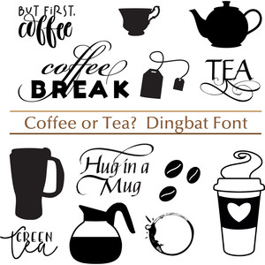 coffee or tea dingbat font