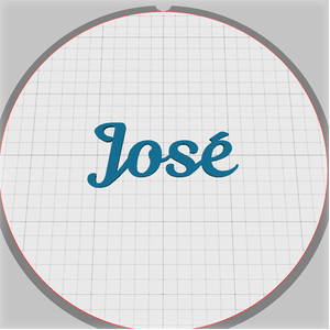 jose name pendant