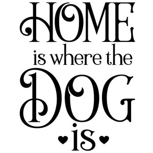 home is where the dog is quote