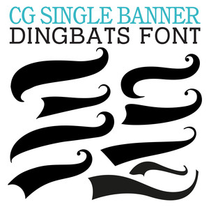 cg single banner dingbats