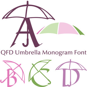 qfd umbrella monogram font