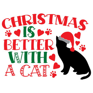 christmas is better with a cat