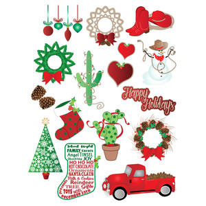 western christmas planner stickers